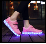 Boy and Girl Luminous Spiderman Sneakers