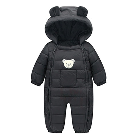 Baby Boy or Girl Winter Romper with Hood