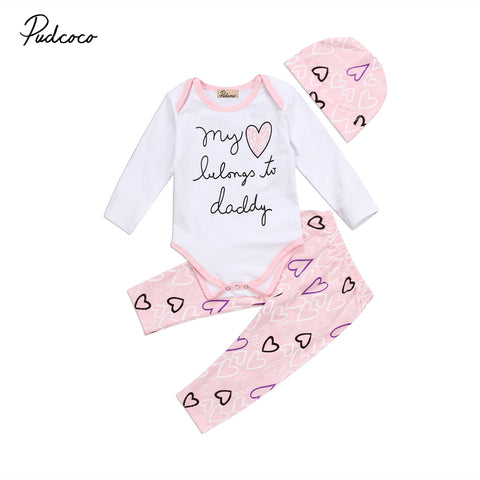 Infant Baby Girl Romper Set