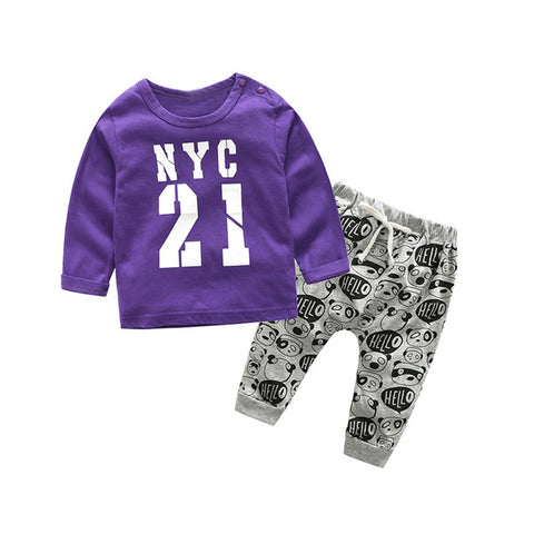 Baby Girl Sweatshirt and Pant Set