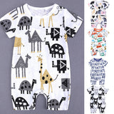 Baby Boy and Girl Cartoon Romper