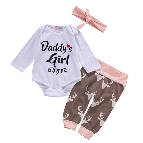 Baby Girl Playsuit Romper Pants Outfit