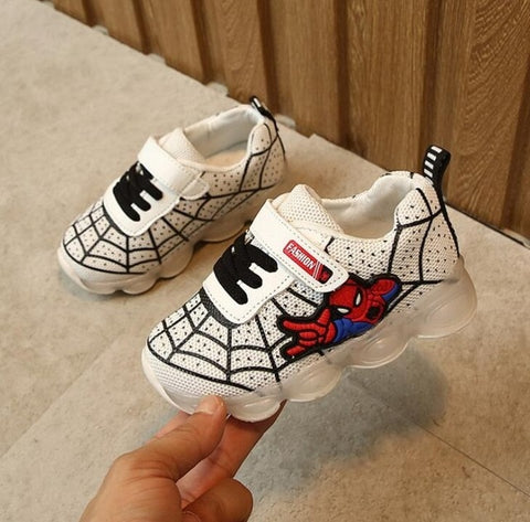 Unisex Luminous Spiderman Kids Shoes
