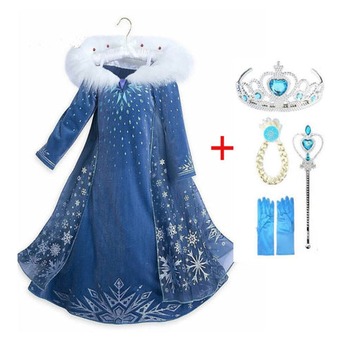 Anna and Elsa Dress Costumes for Girls
