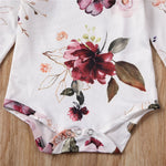 Baby Girl Flower Bodysuit Set