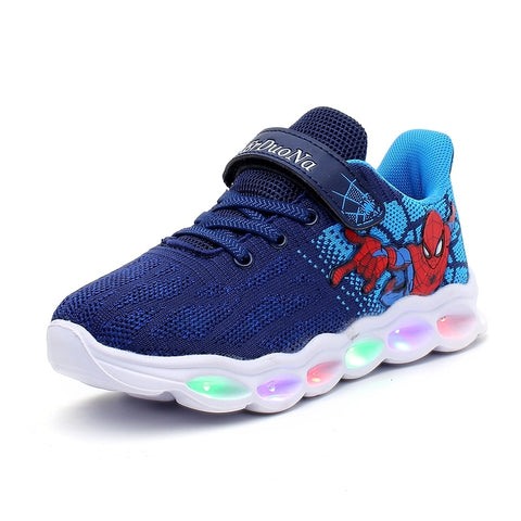 Unisex Toddler/Kids Luminous Spider Man Sneakers