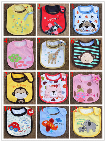 Unisex Newborn Cartoon Cotton Baby Bibs