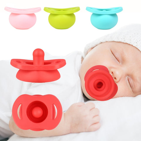 Baby Silicone Retractable Nipple Pacifier