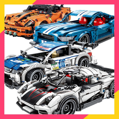 Hypercar Compatible Technic Speed Champion Race Car ZR1