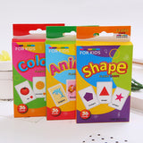 Kids Recognition Color Animal Shape Teaching Cards