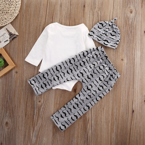 3PCS Newborn Baby Boy Clothes