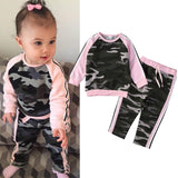 Toddler Kids Baby Girl Camouflage 2PC Sportsuit
