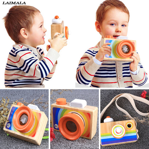 Toddler Wooden Toy Camera