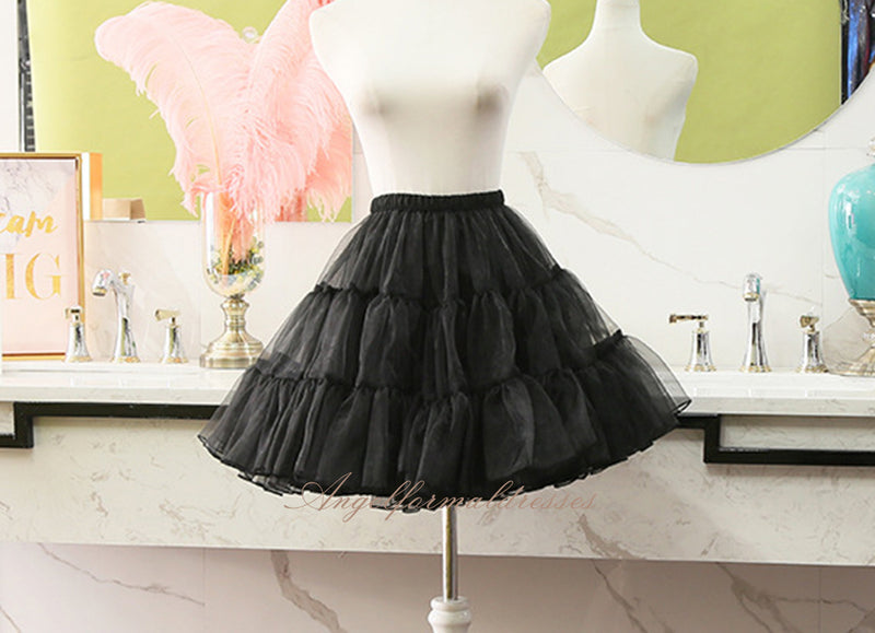 Cosplay No Hoop Short Skirt Lolita Carmen Slip Liner Cute Girls Skirts Adjustable Petticoat