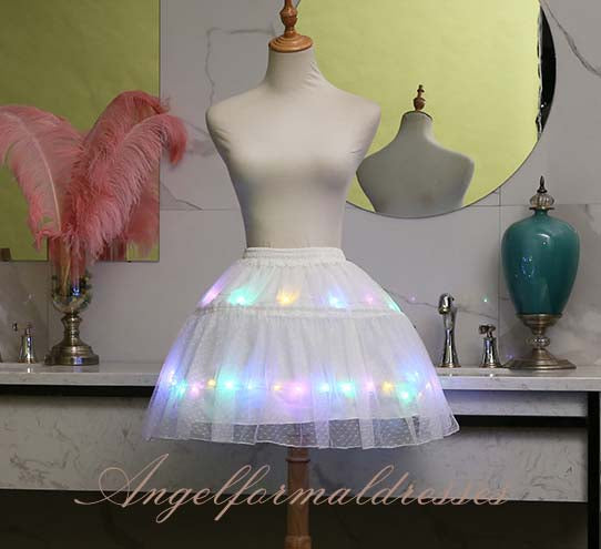 2020 Light LED Girl Clothes Star Tutu Skirt Princess Party Tutus Tulle Pettiskirt Ballet Dance Halloween White