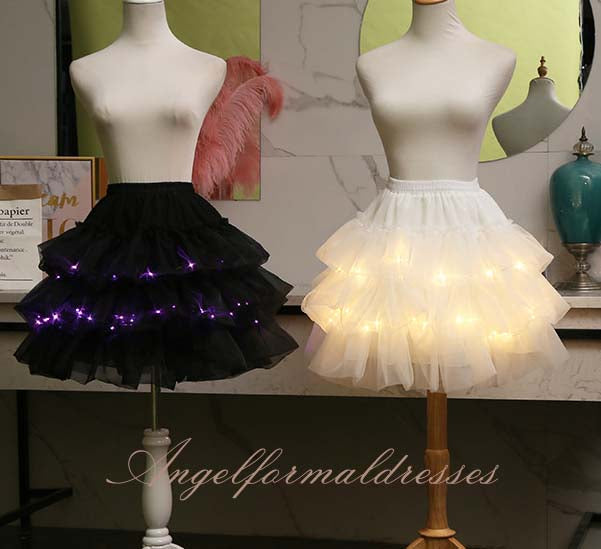 Light LED women Clothes Star Tutu Skirt Princess Party Tutus Tulle Pettiskirt Ballet Dance Halloween