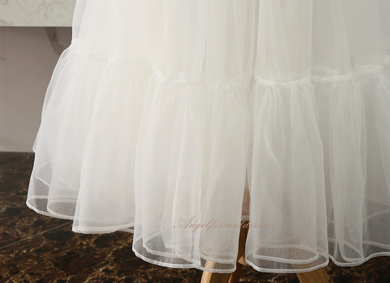 Black Organza Petticoat long Underskirt  Cosplay Party Dress Petticoat Ballet Tutu Skirt