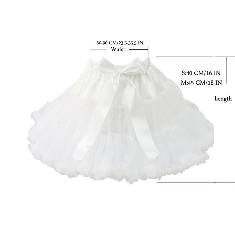 Women tulle Petticoat, short Underskirt ,Cosplay Party Dress Petticoat, Lolita Petticoat ,Ballet Tutu Skirt Rockabilly Crinoline