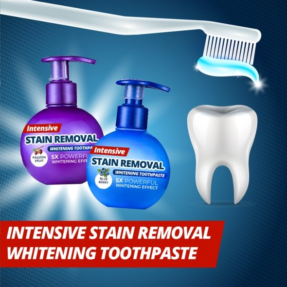 BrightSmile™ Natural Intensive Stain Remover Whitening Toothpaste - Geniusly PH