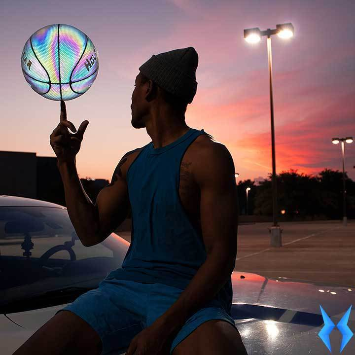 HOLOGEAR™ HOLOGRAPHIC GLOWING REFLECTIVE BASKETBALL - Geniusly PH