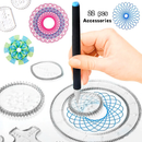 Spirograph Geometric Ruler Set- 22 Pieces | Learn More What Geometry And Art Can Do!