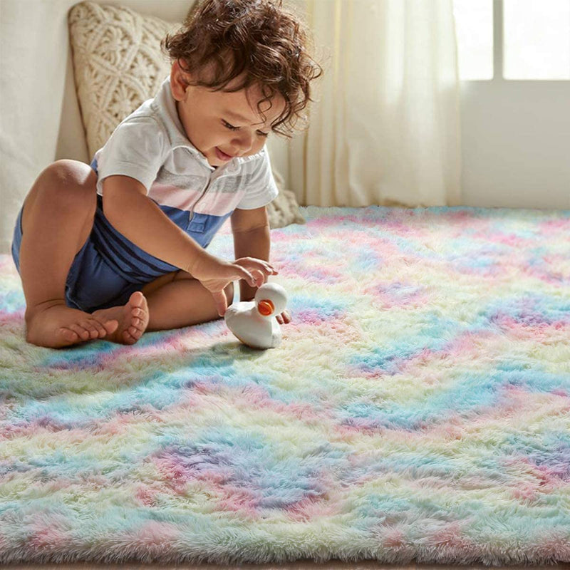 Colorful Fluffy Carpet Rug