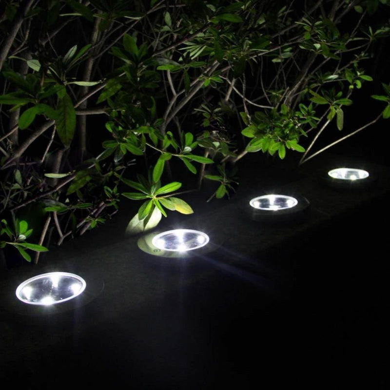 Floor/Path LED Lamp on Solar Energy (Pack of 4 Pieces)-Dagoodi
