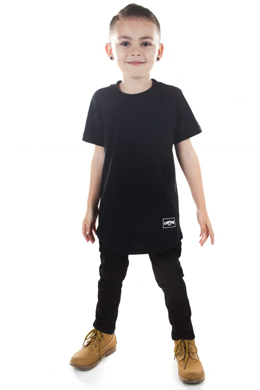 Kids 'Coro' Tee - Black - CartelStoreOfficial