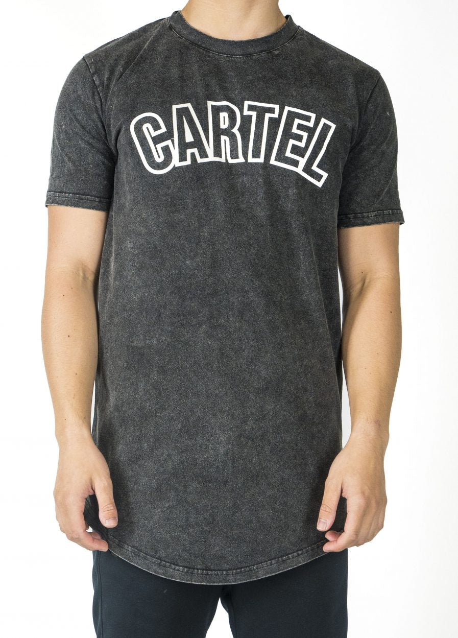 'Earned' T-Shirt - Acid Black - CartelStoreOfficial