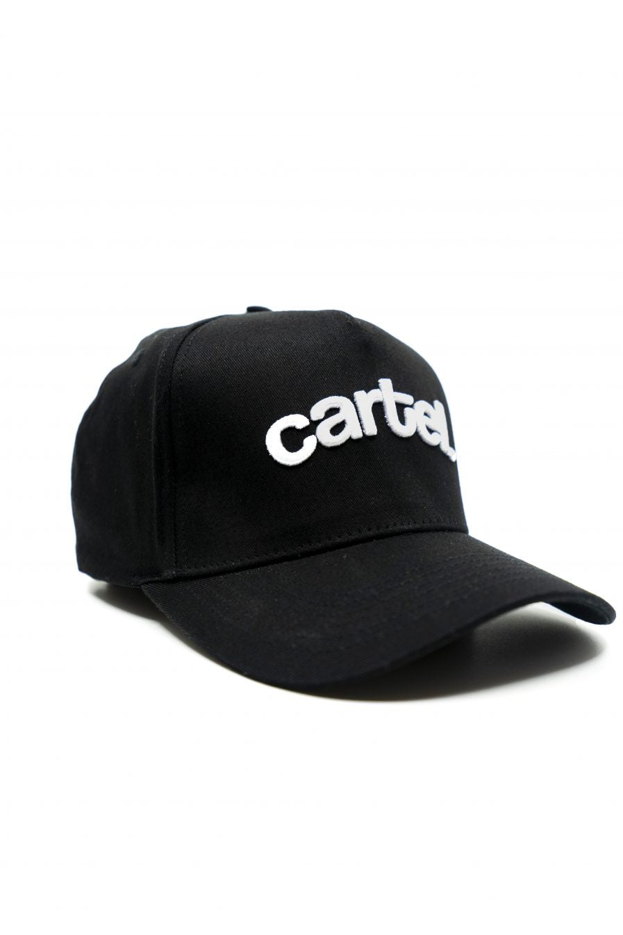 Snapback - Black + White text - CartelStoreOfficial