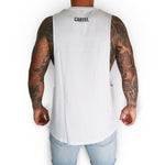 Load image into Gallery viewer, 'Santiago' Tank - White (pink) - CartelStoreOfficial