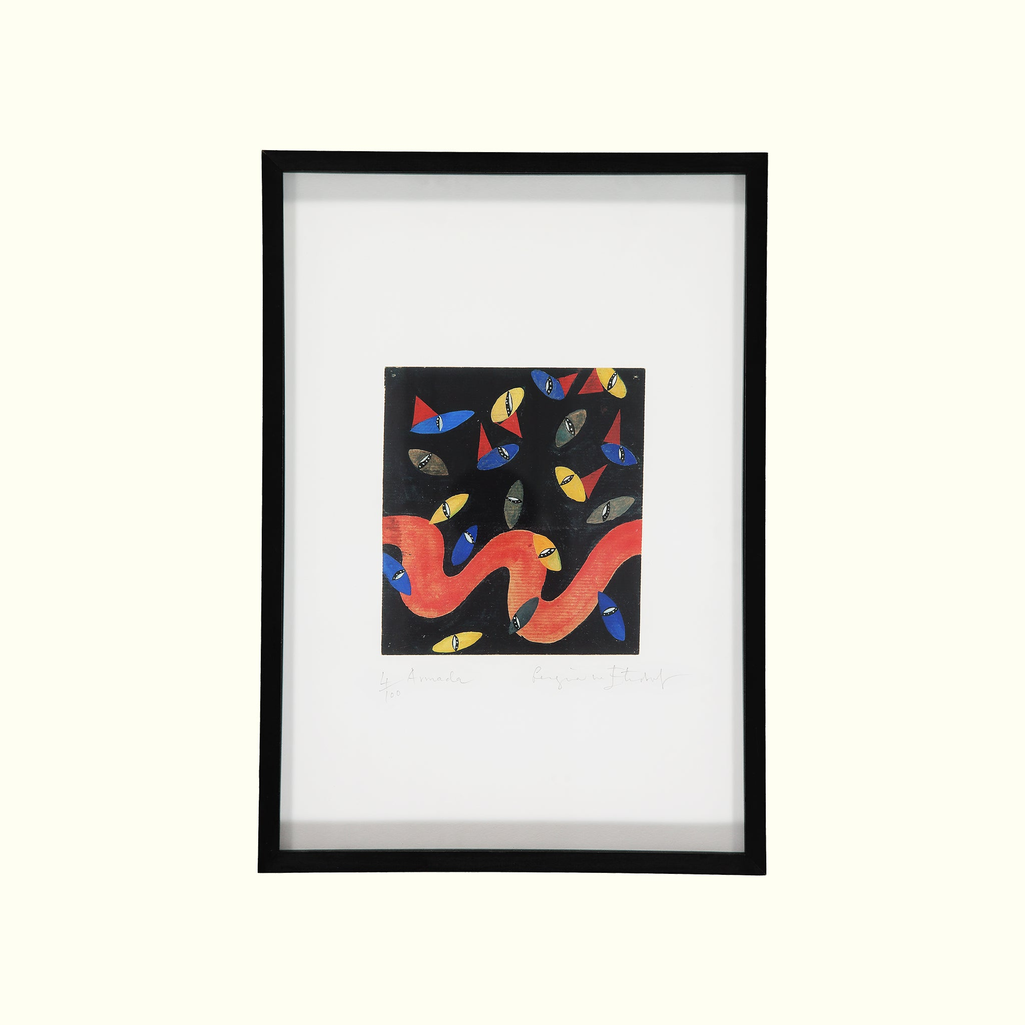 A handmade luxury British giclee print by GVE.