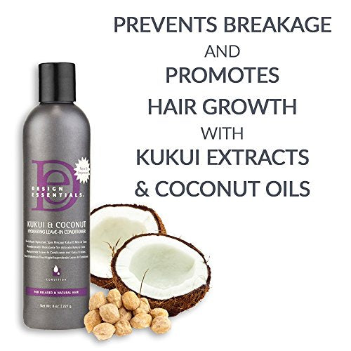 Design Essentials Kukui & Coconut Hydrating Leave -In-Conditioner