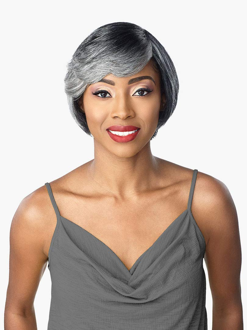 Sensationnel Empire Wig 100% human Hair Salt & Pepper