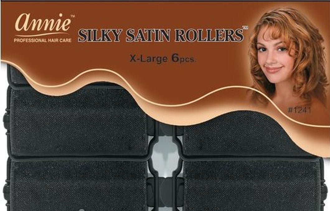 Annie Soft Satin Rollers XL