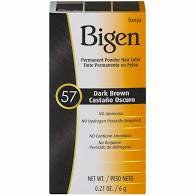Bigen #57 Dark Brown Permanent Powder Hair Color