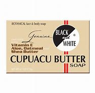 Black & White Cupuacu Butter Soap with Vitamin E, Aloe, Oatmeal and Shea butter.