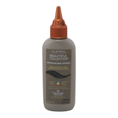 Clairol Beautiful Collection Advanced Gray Solution Midnight Black 1A