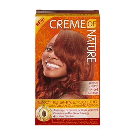 Crème of Nature Exotic Shine Color with Argan Oil from Morocco #7.64 Bronze Copper
