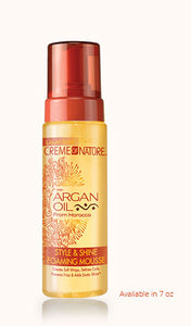 Crème of Nature with Argan Oil from Morocco Style & Shine Foaming Mousse