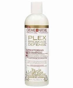 Crème of Nature with Argan Oil from Morocco Plex Breakage Defense Step 2 restoring Shampoo