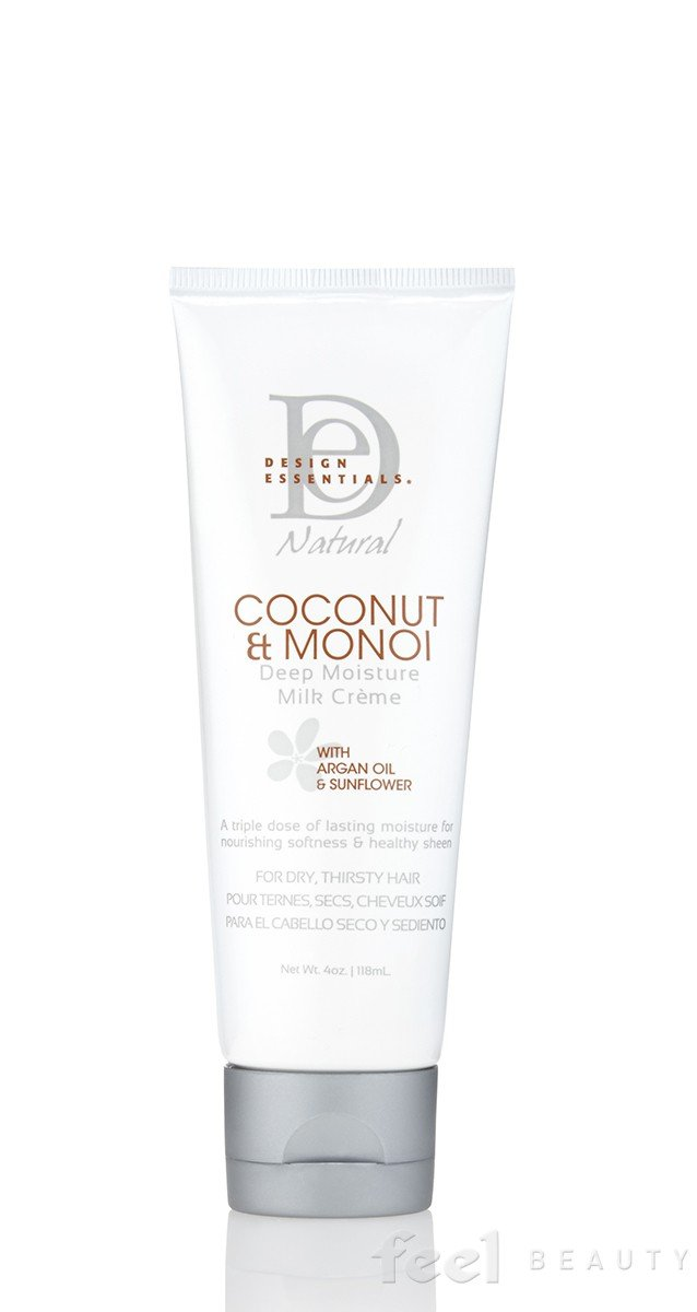 Design Essentials Natural Coconut & Monoi Deep Moisture Milk Crème with Argan Oil & Sunflower