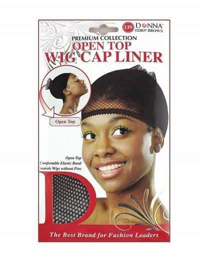 Donna Open Top Wig Cap Liner Brown