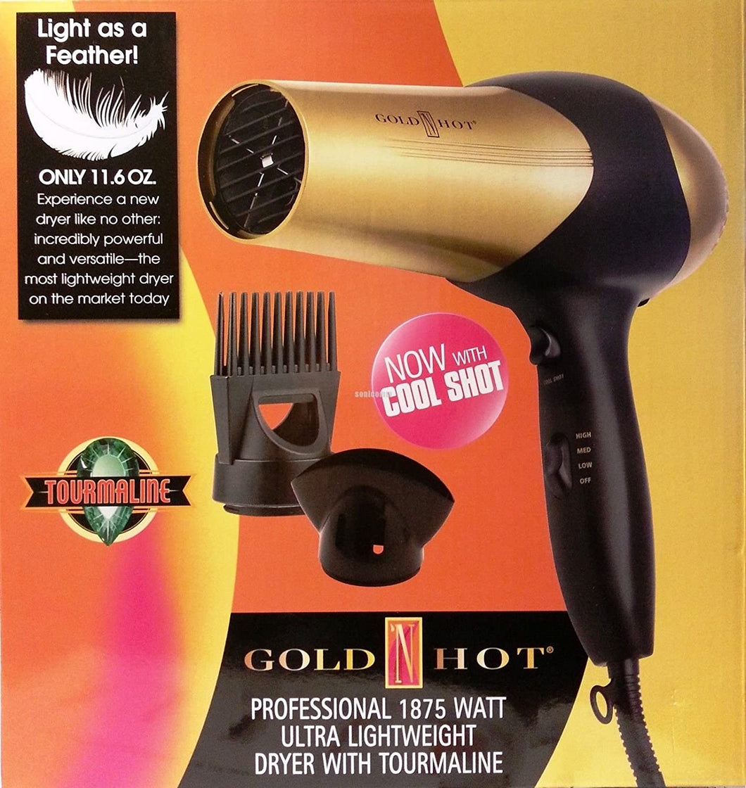 Gold N Hot Professional 1875 Watt Ultra Lightweight Dryer With Tourmaline