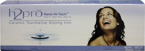 H2Pro Nano Hi-Tech Ceramic Tourmaline Styling Iron Model: 108YVI