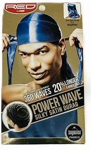 Red by Kiss 360 Waves Power Wave Silky Satin Durag