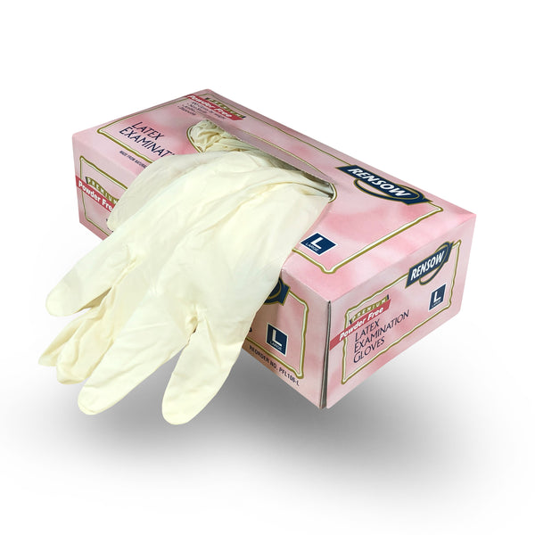 Rensow Powder Free Latex Gloves - Large