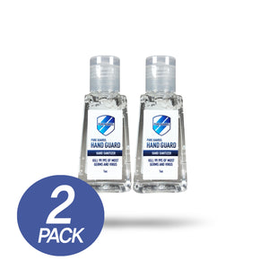 2 of Hand Guard Sanitizer 62% alcohol (1oz)