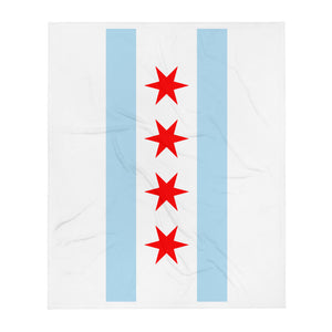 Chicago Flag Throw Blanket - 312 Supply + Co.