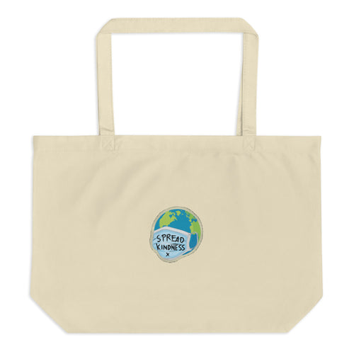 Spread Kindness - Large Organic Tote Bag - 312 Supply + Co.